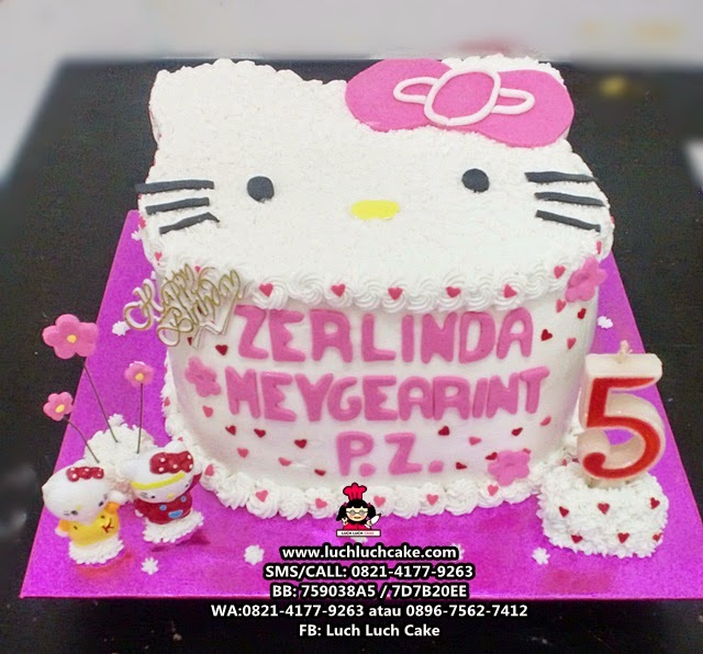 Kue Tart Hello Kitty Kepala 3D Cake Daerah Surabaya - Sidoarjo