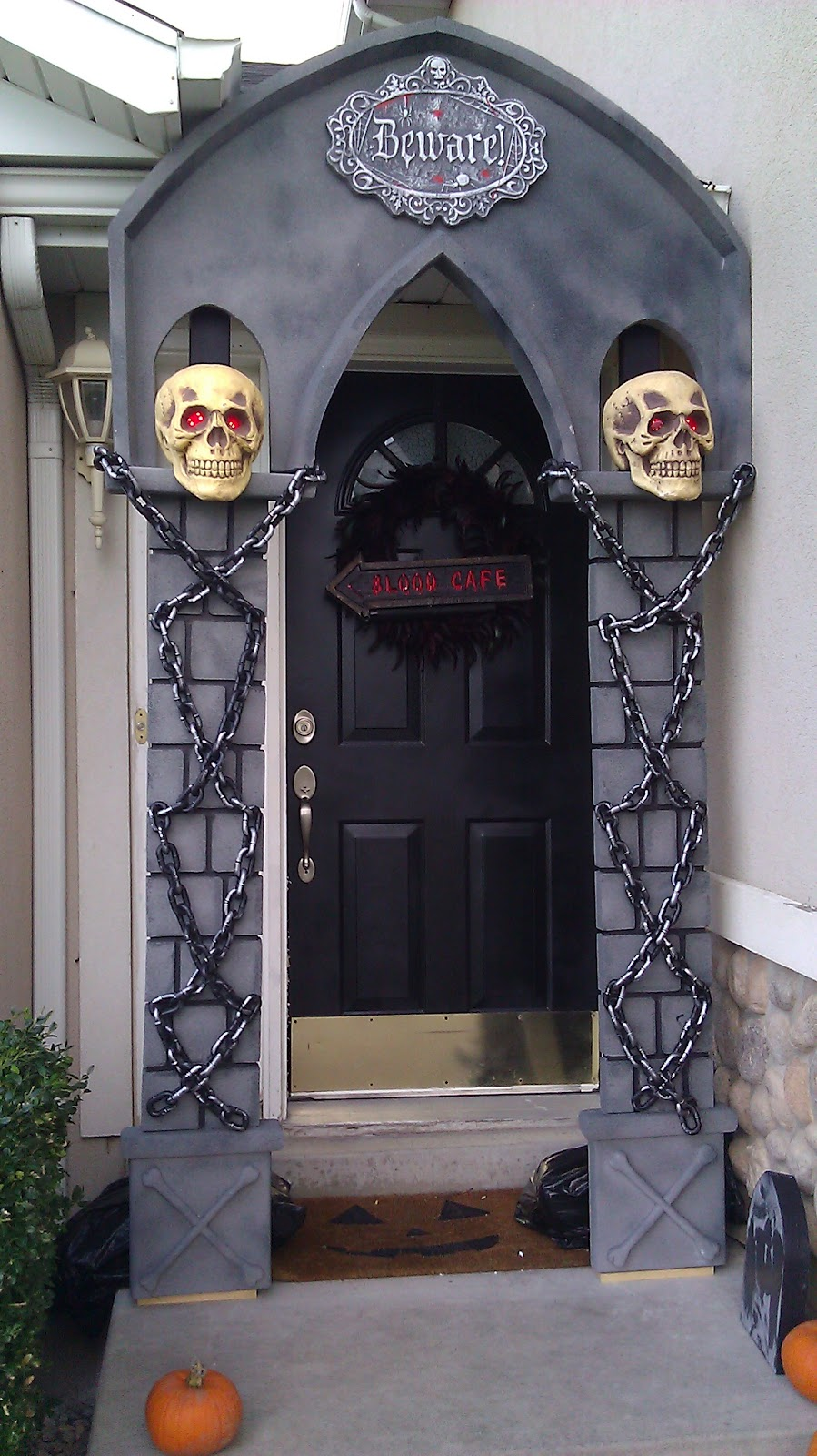My fun projects halloween arch for Archway decoration ideas