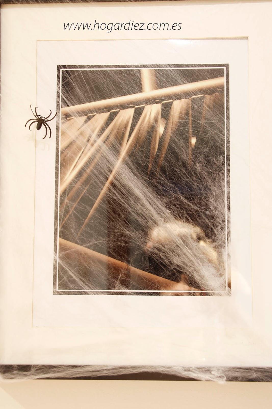 Halloween cuadro con tela de araña