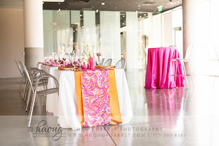 Pink and orange wedding by Take the Cake Event Planning