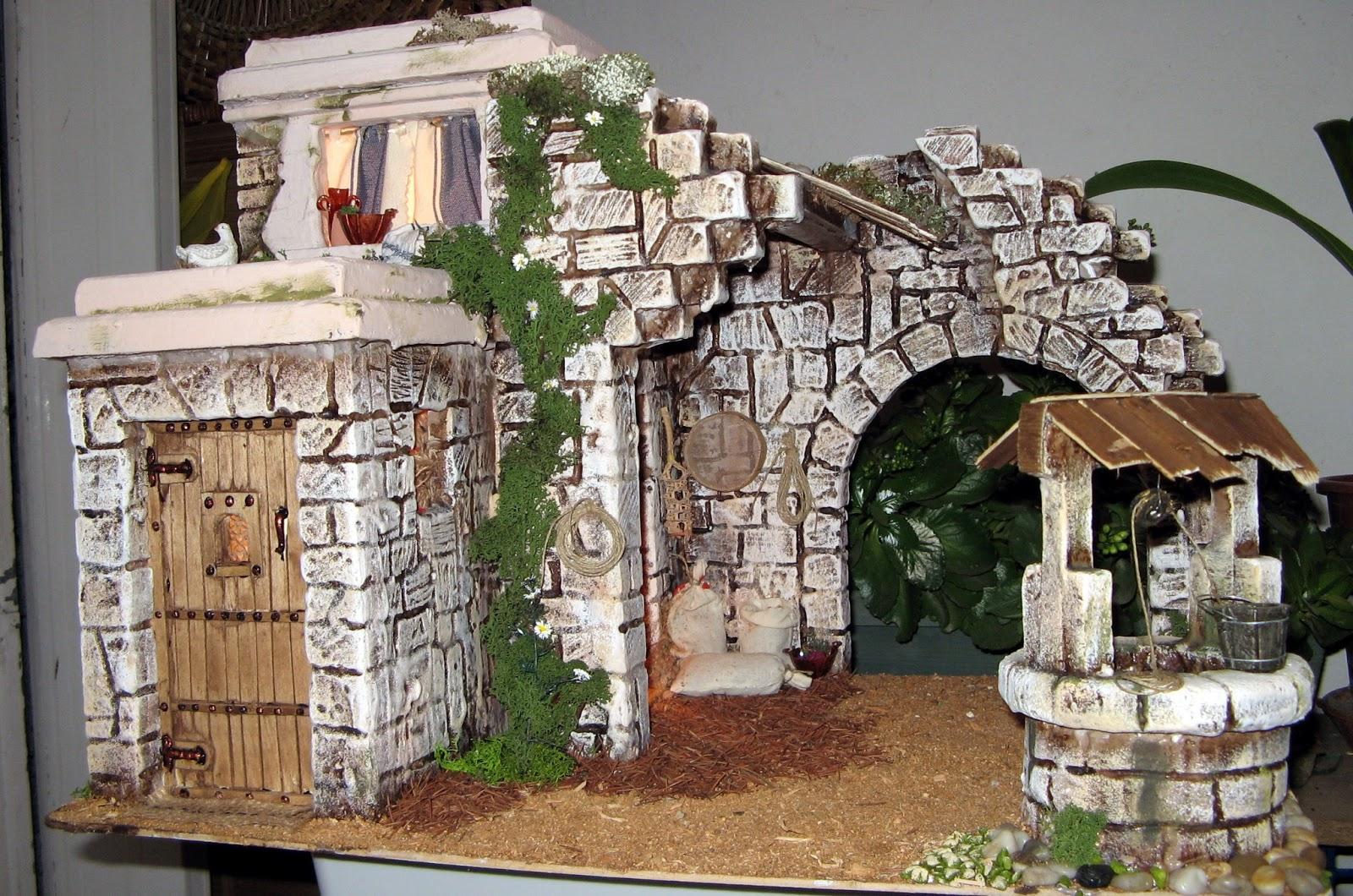 Belenes sancho calamocha portal n 34 con pozo y arco - Portales de belen originales ...