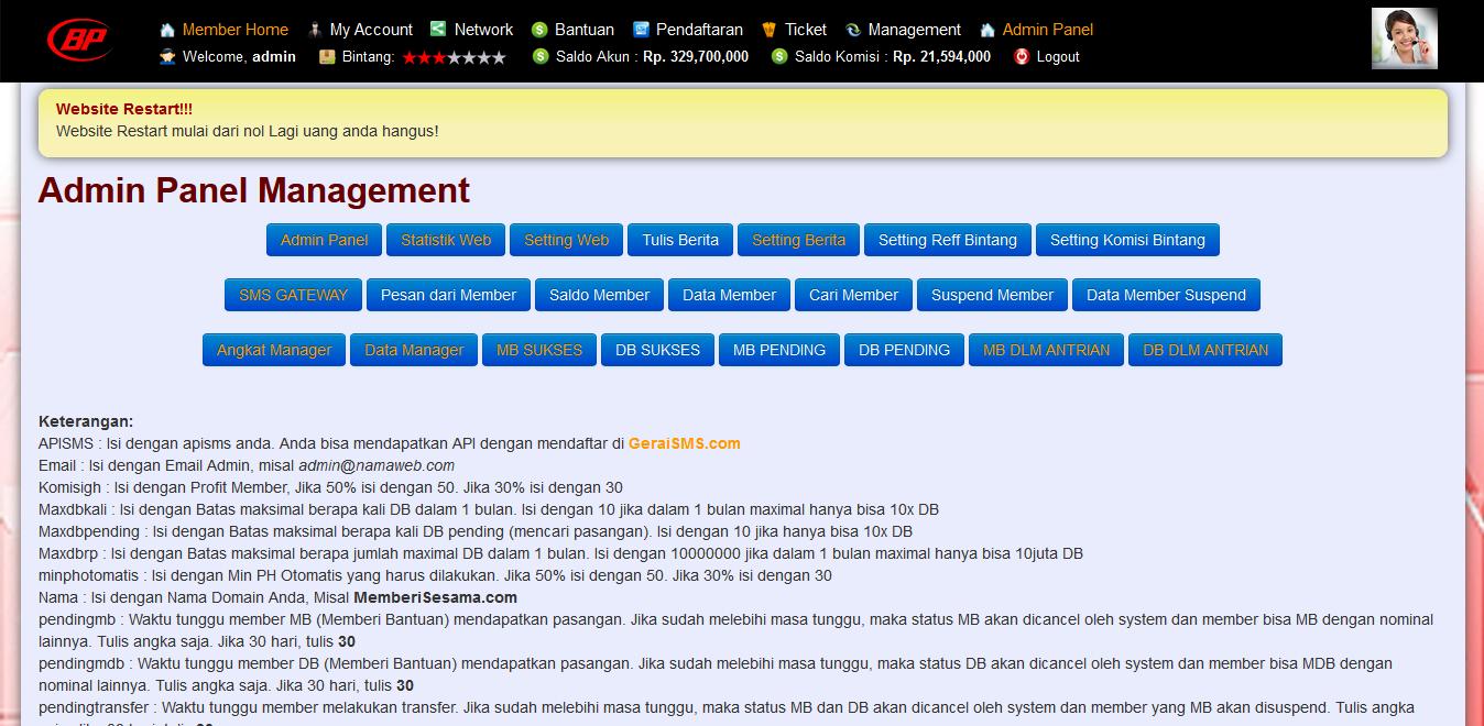 Script Web Komunitas S3