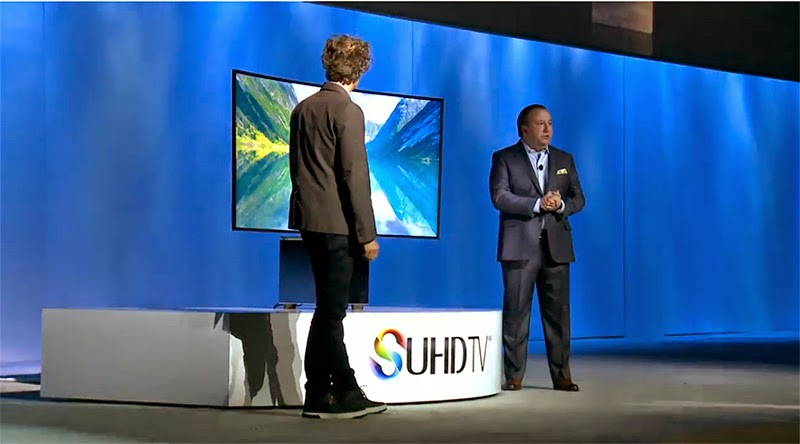 samsung conference ces 2015 tv SUHD design