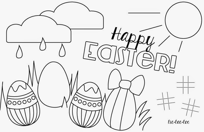 Printable: Easter Coloring Page Placemats - See Vanessa Craft
