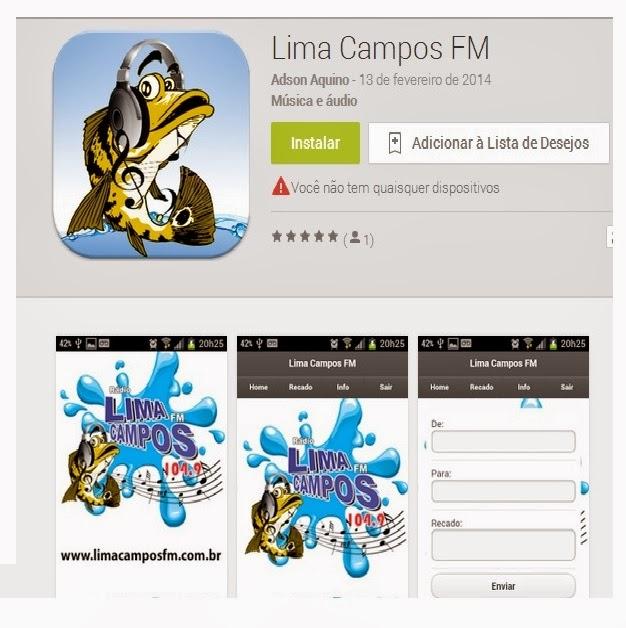 RÁDIO LIMA CAMPOS FM AGORA NO SEU CELULAR