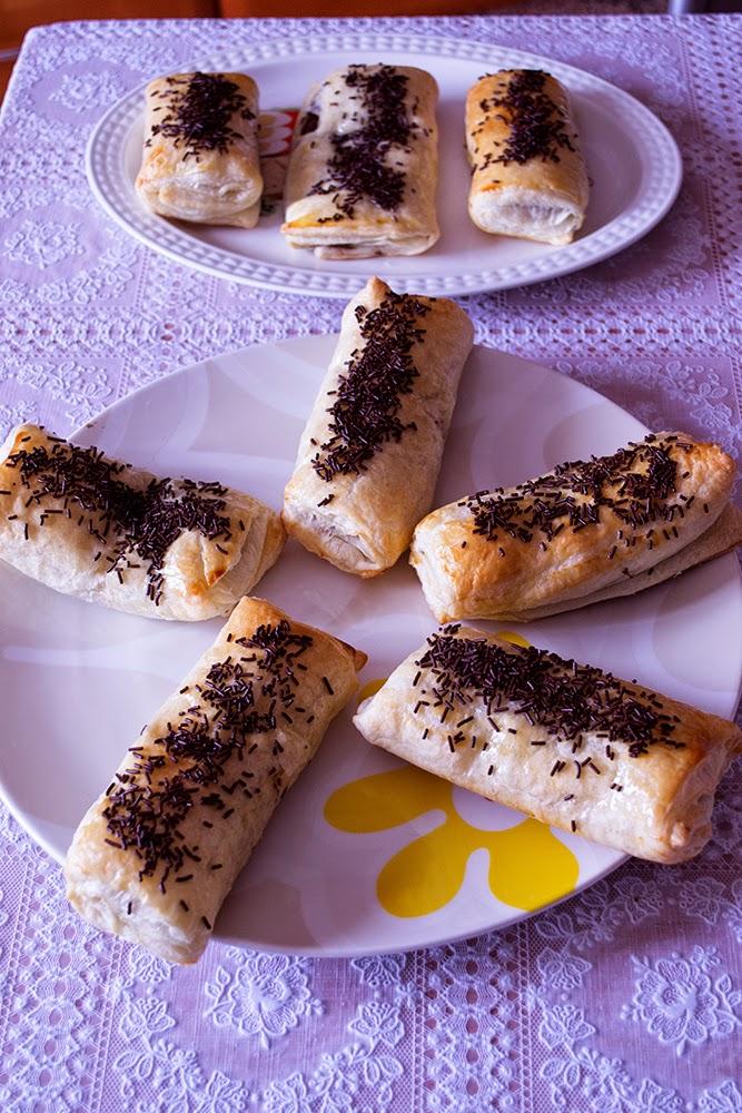 Napolitanas caseras con chocolate