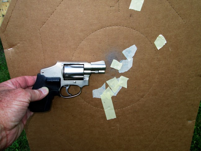small 5 shot back up revolver