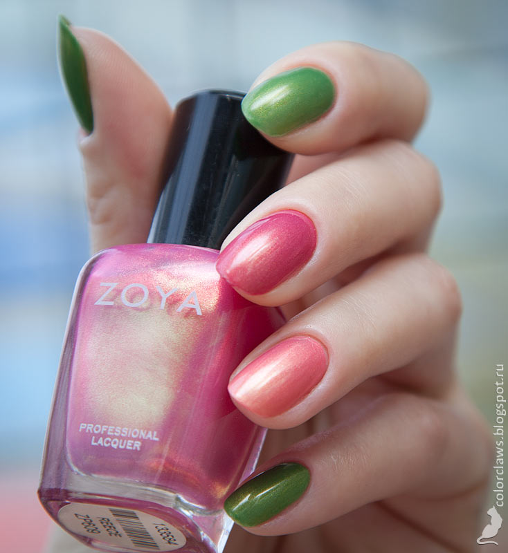 Revlon Colorstay #230 Bonsai + Zoya Reece + Zoya Happi