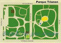 Planta do Parque Trianon com suas duas partes cortadas pela alameda Santos.