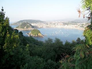 Vistas de San Sebastian desde el Monte Igueldo