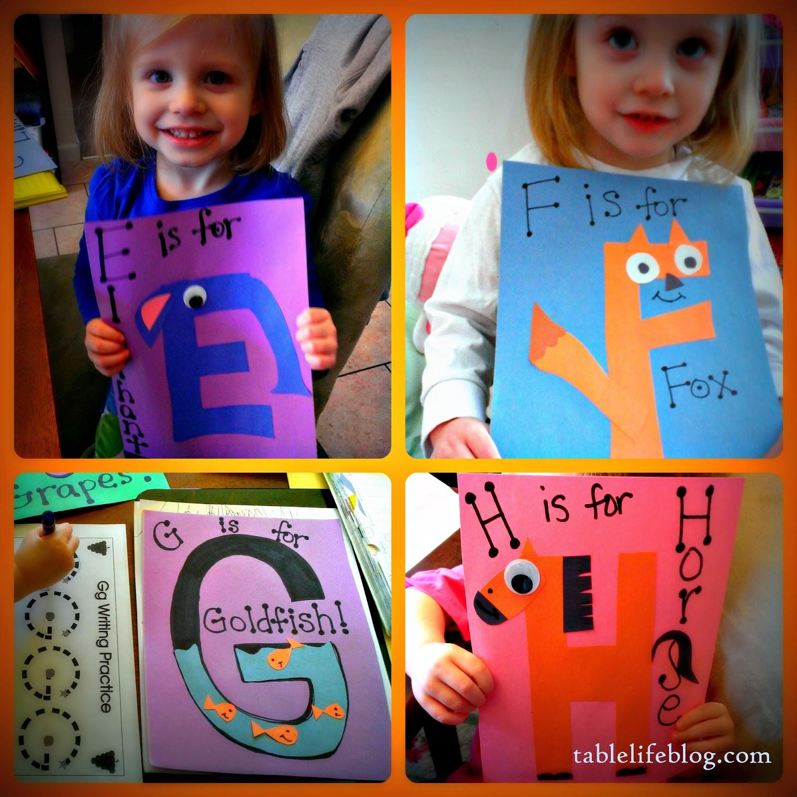 Letter of the Week Update homeschool early learning preschool