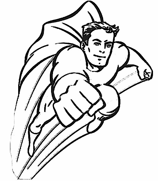 free coloring pages of the flash superhero