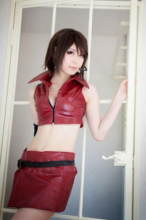 Tachibana Ren cosplay as Vocaloid Meiko