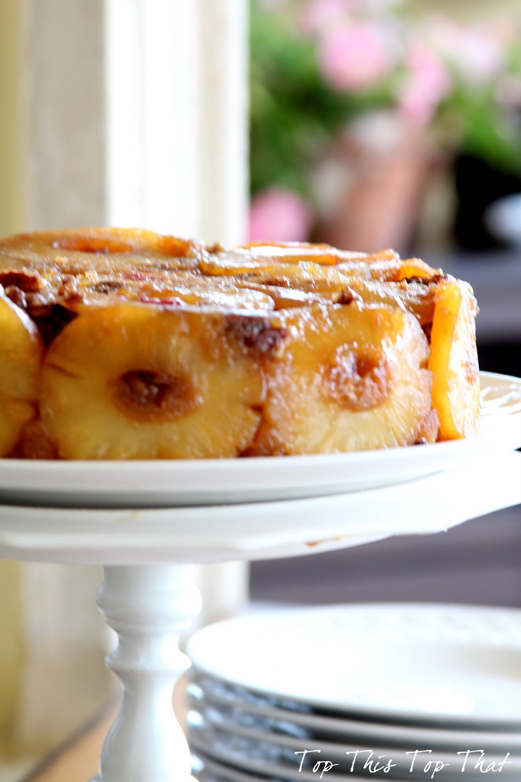 about this delectable, finger licking, best Pineapple Upside Cake ...