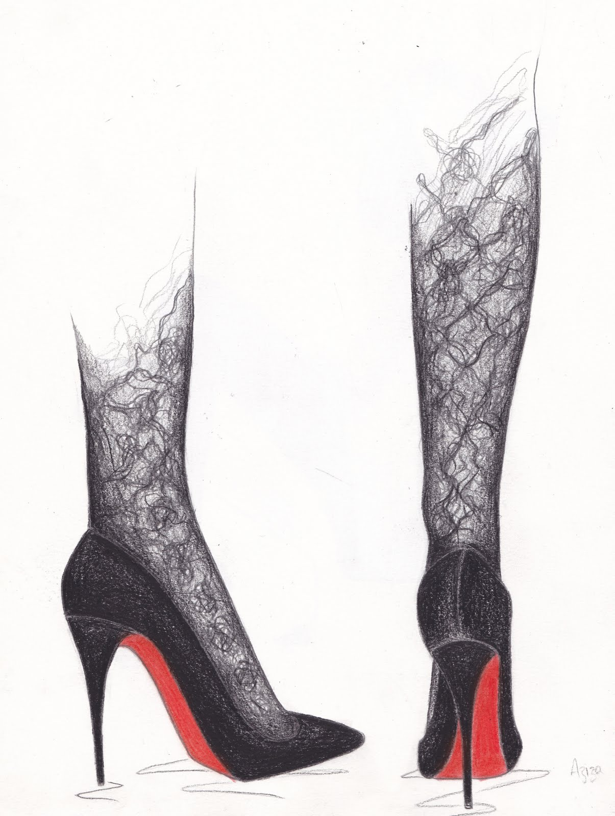 chaussures louboutin dessin
