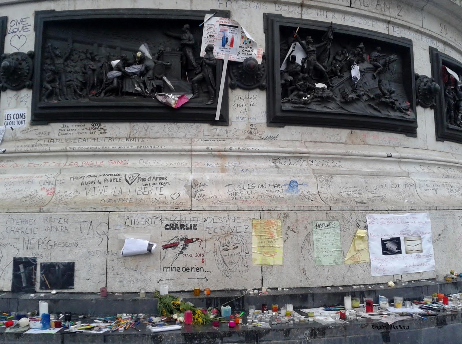 Le 11 janvier 2014 Place de la république