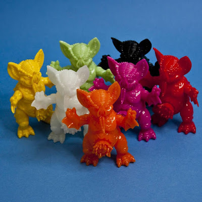 Designer Con 2015 Exclusive Mini Mockbat Unpainted Vinyl Figures by Paul Kaiju x Unbox Industries