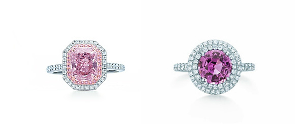 Fancy Pink Purplish Diamond Tiffany Engagement Ring