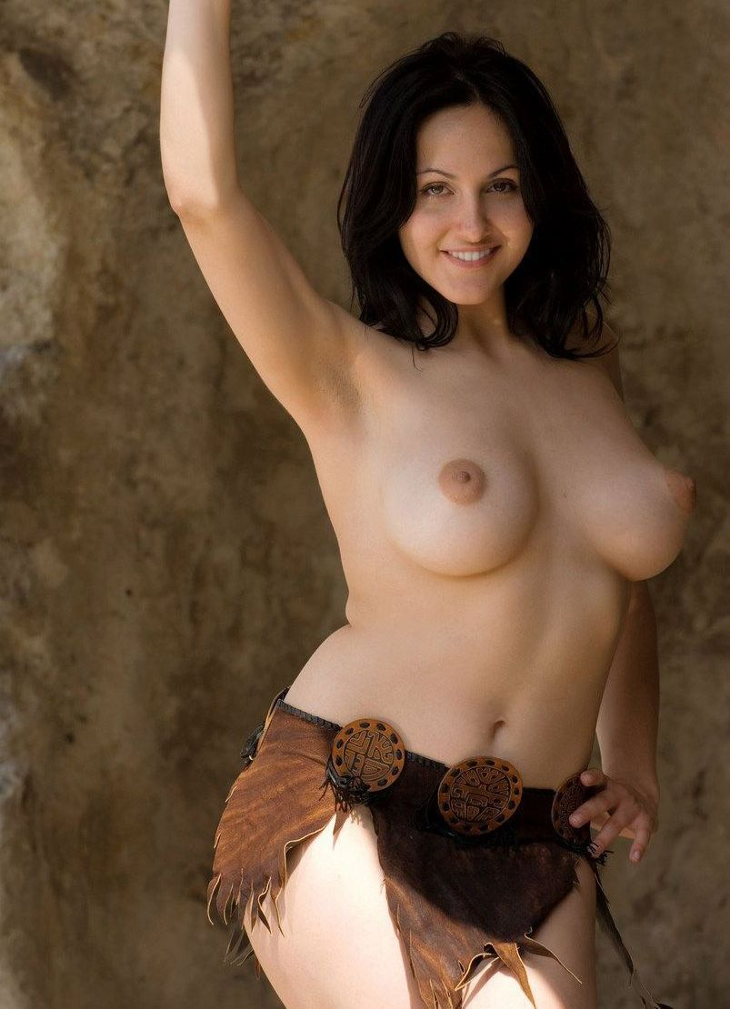 Nude beauties busty brunette