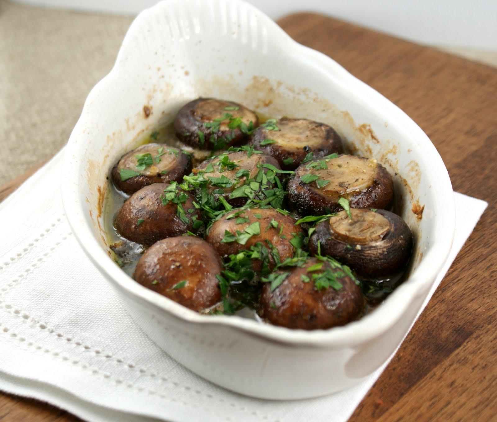 roasted garlic mushrooms 1 lb mushrooms cremini or white halved ...