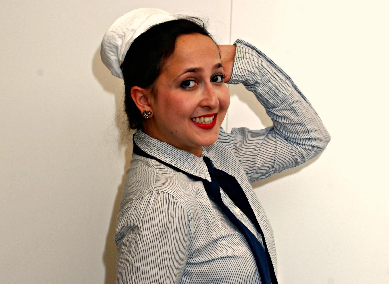 vintage stewerdess costume