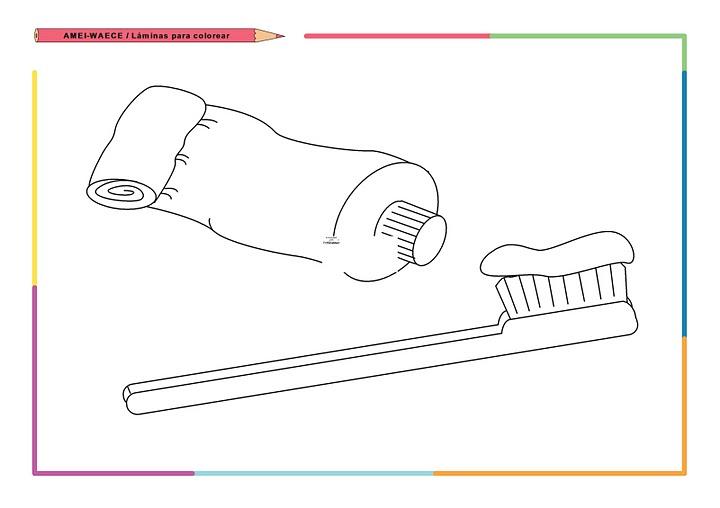 Imágenes de elementos de aseo personal para colorear - Imagui