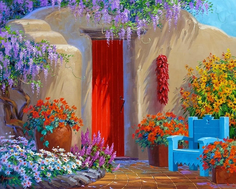 Cuadros Modernos Pinturas : Pintura de Flores al Óleo con Espátula ...