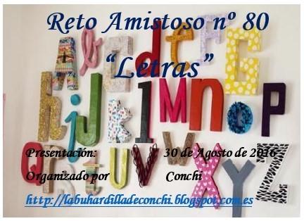 """Reto Amistos nº 80 """"Letras"""""""