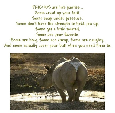 Friends are like panties...