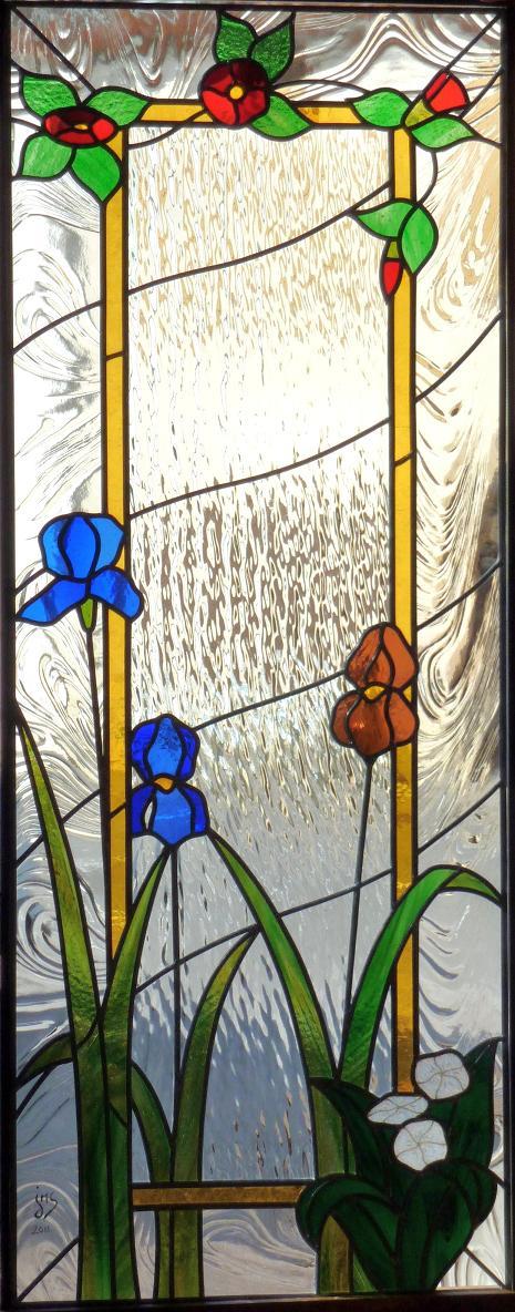atelier verrier de clermont vitrail verre fusionn stages vitrail cloison ins r dans un. Black Bedroom Furniture Sets. Home Design Ideas