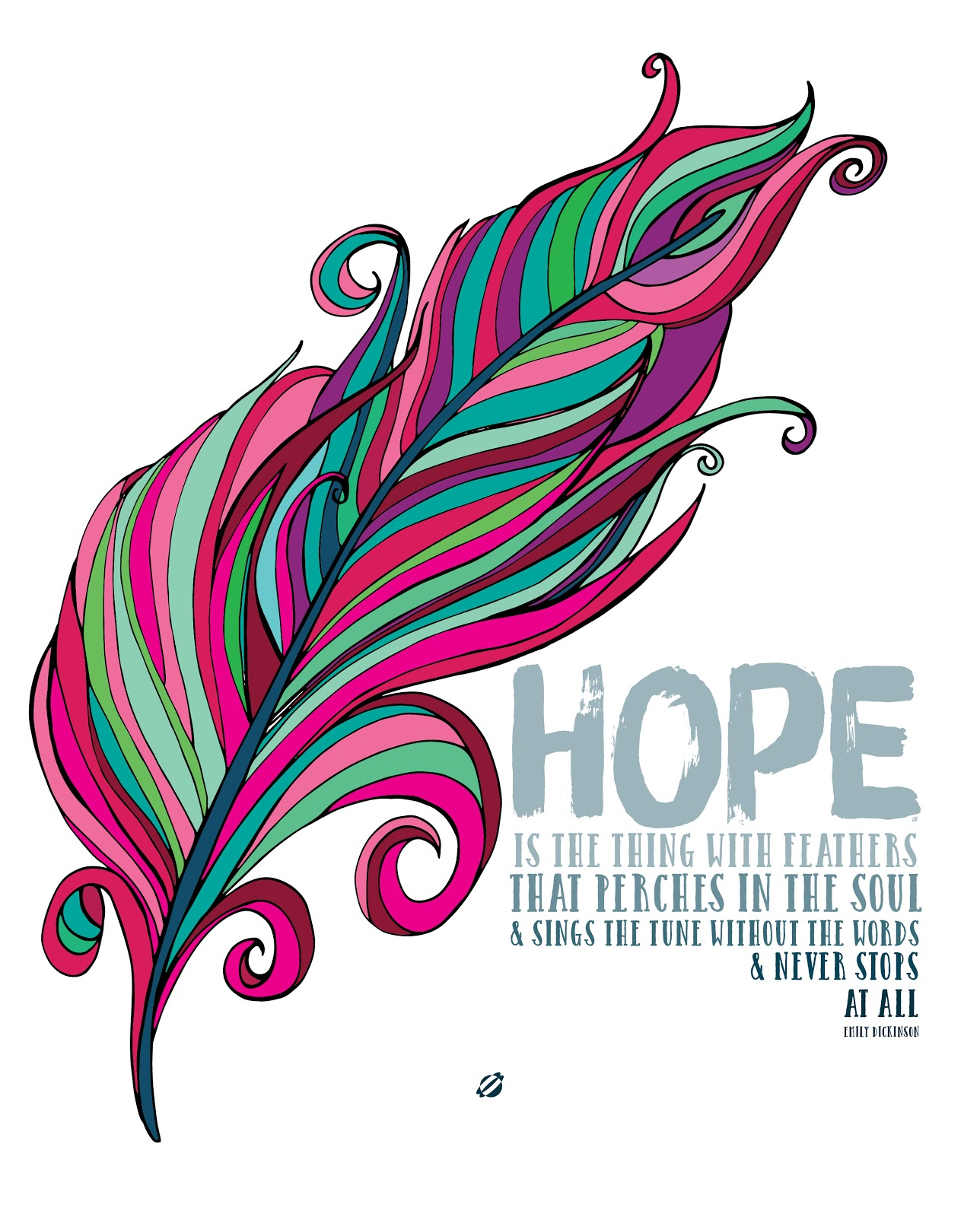 LostBumblebee ©2015 MDBN :: HOPE is the thing with feathers :: Emily Dickinson :: Free - Donate to download - Printable :: Personal Use Only