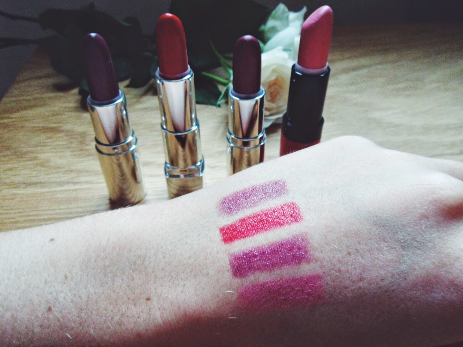 lipsticks, Autumn/ Winter 2014, wiw, whatibought, whatimwearing, beauty, bbloggers, beautybloggers, winter, autumn, pink, rimmel, thebodyshop, motd, fbloggers, fashionbloggers