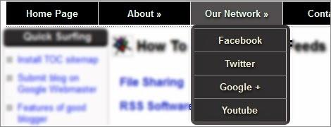 blogger text menu example