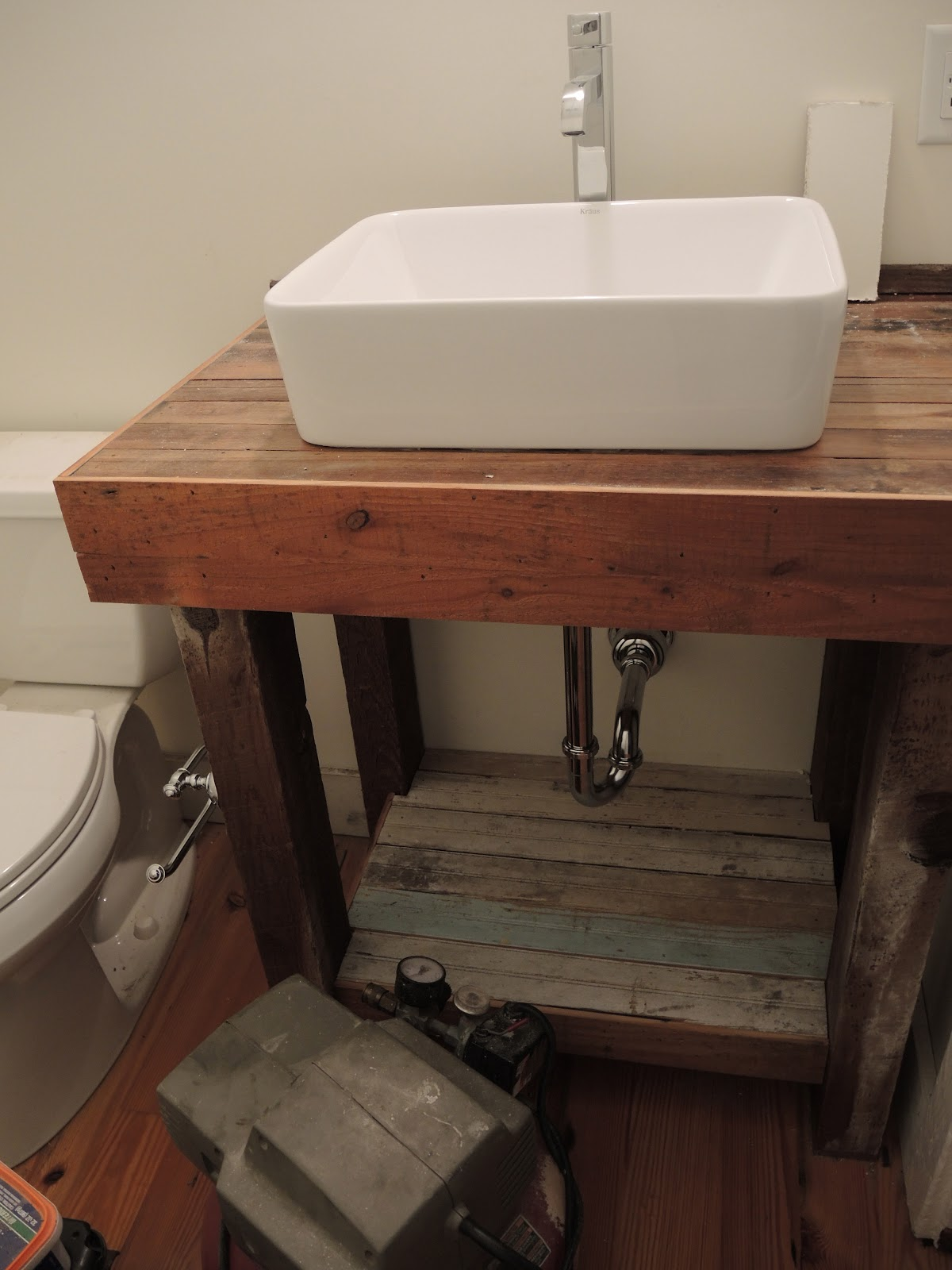 Perfect  Bathroom  Bathroom Vanities  36quot Neeson Vessel Sink Vanity  Rustic