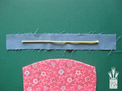 Fabric for cording-Pumpkin with Piping