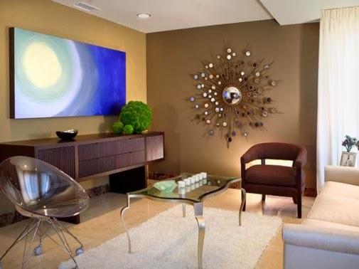 Ideje za uređenje sobe: Dnevna soba u braon boji