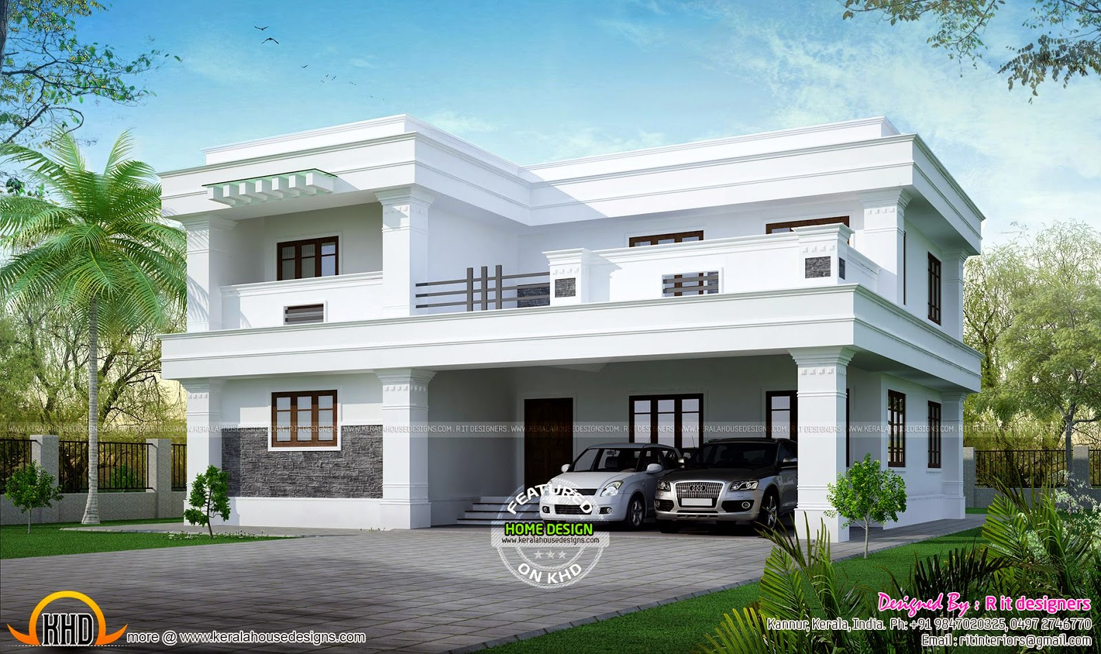 Residence at bangalore kerala home design and floor plans for Home designs bangalore