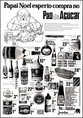 Supermercado Pão de Açucar ; Jumbo;  1974; década de 70. os anos 70; propaganda na década de 70; Brazil in the 70s, história anos 70; Oswaldo Hernandez;