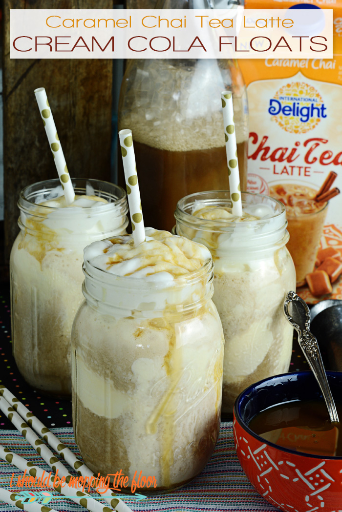 Caramel Chai Tea Latte Cream Cola Floats |  Easy recipe with cola and chai tea latte! | The perfect, indulgent, summertime treat.