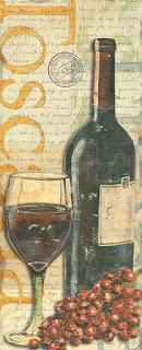 Bodegones con Botellas de Vino y Uvas