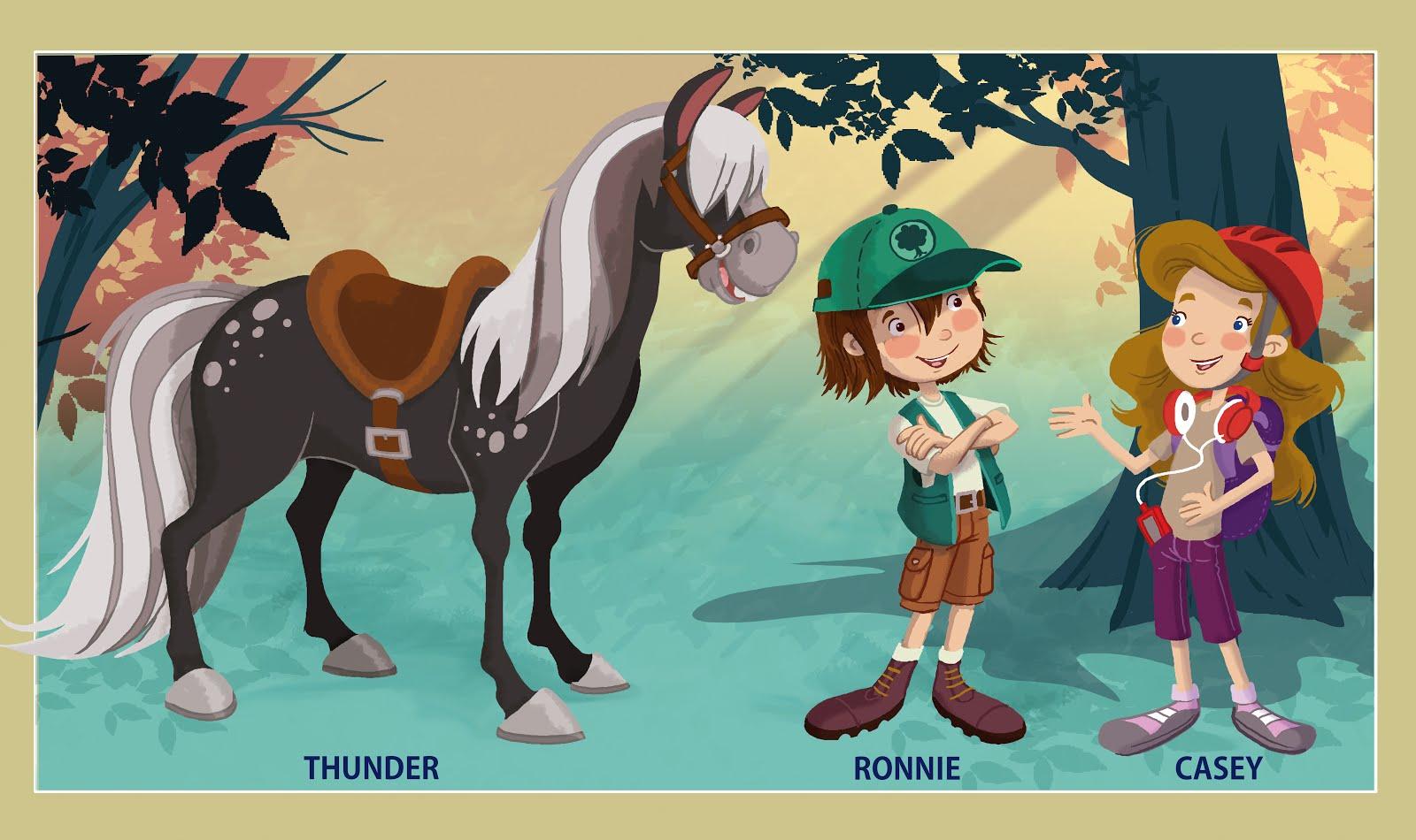 Personajes , para libros de lengua Inglesa Editorial Mac millan