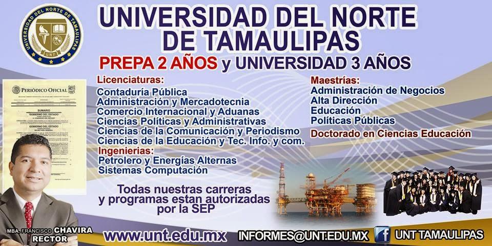 inscribete a la universidad del norte de tamaulipas