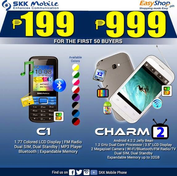 SKK Mobile Charm 2 and C1, Only Php999 and Php199 Respectively This August 17 & 18