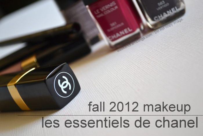 Les Essentiels de Chanel Makeup Collection Fall 2012 Beauty Blog Swatches