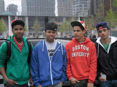 Brandon Watkins, Julio Brito and Rodrigo Honoratio with Francis Vasquez at Ground Zero