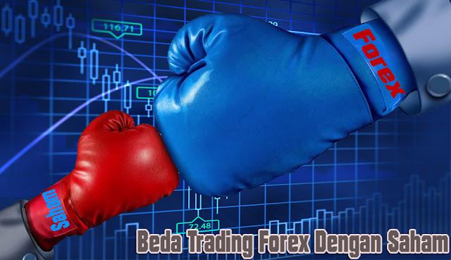 Perbedaan Trading Forex Dengan Saham