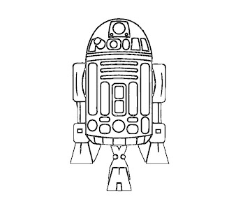 #4 Star Wars Coloring Page