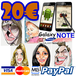 Order your Galaxy Note Caricature!
