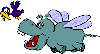 Flying Hippopotamus Clipart