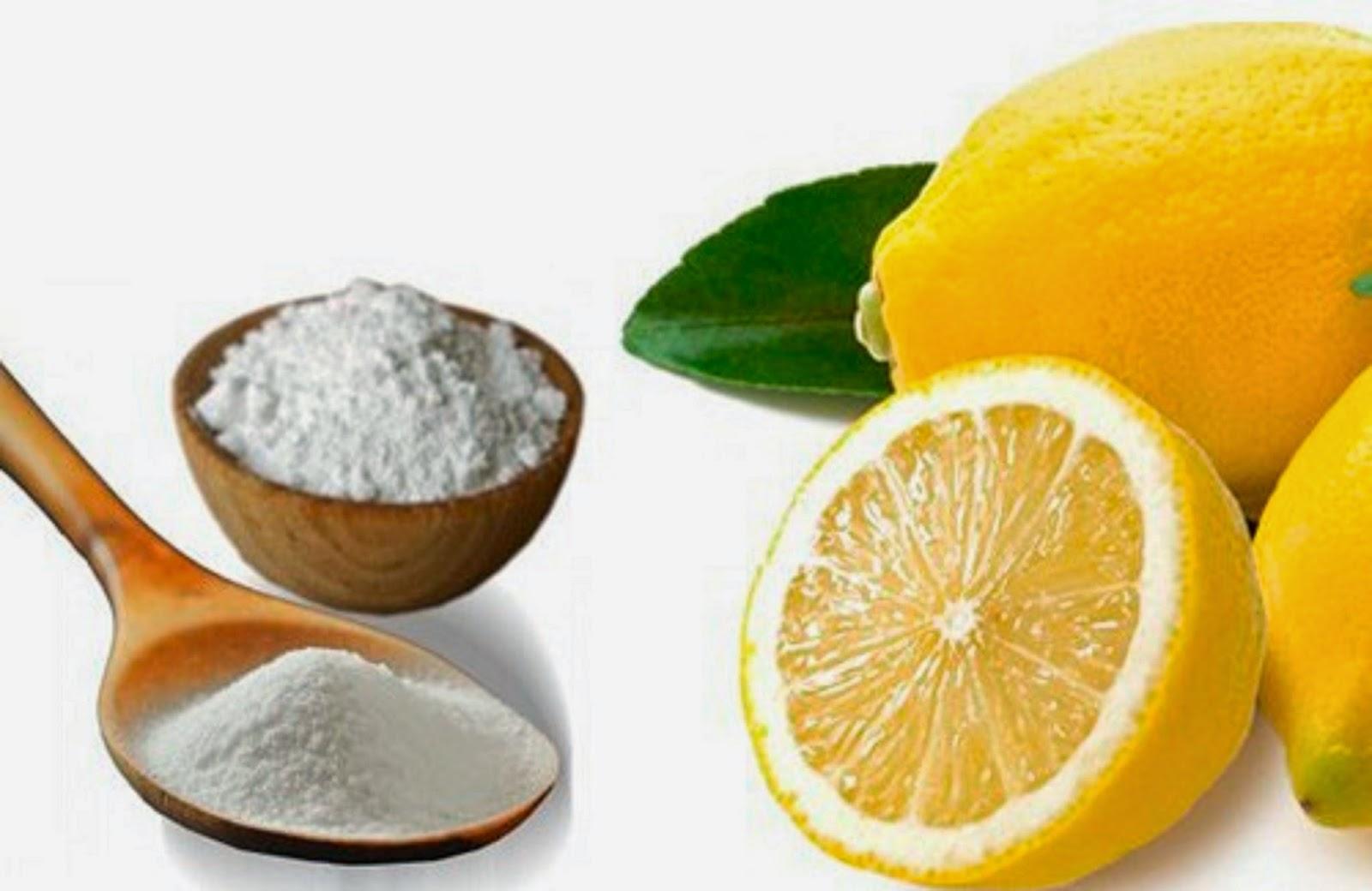 recette puissante :Le citron et le bicarbonate de soude